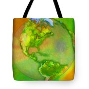 3d Render Of Planet Earth Tote Bag