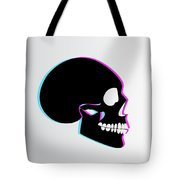 3d Skull Icon Background Side On Tote Bag