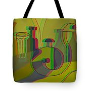 3d Stereo Cubism - Use Red-cyan 3d Glasses Tote Bag