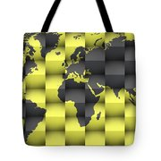 3d World Map Composition 4 Tote Bag