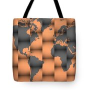 3d World Map Composition Tote Bag