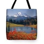 3m4824 Tipsoo Lake And Mt. Rainier H Tote Bag