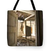 3rd Floor Door And Ruined Room Tote Bag