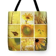 3x3 Yellow Tote Bag