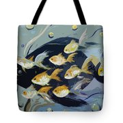 8 Gold Fish Tote Bag