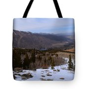 A Snowy Desert Mountain Scene Above Twin Lakes Along The Trail To Monument Ridge In The Eastern Sier Tote Bag