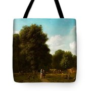 A View Of The The Haarlemmerhout Tote Bag