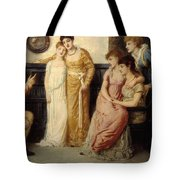 A Youth Relating Tales To Ladies Tote Bag