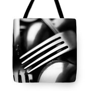 Abstract Black And White Forks Tote Bag