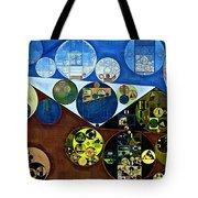 Abstract Painting - Wood Bark Tote Bag
