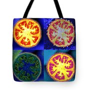 4 Abstract Tomatoes Tote Bag