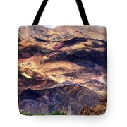 aerial view of Leh ladakh landscape Jammu and Kashmir India Tote Bag