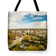 Aerial View Over White Rose City York Soth Carolina Tote Bag