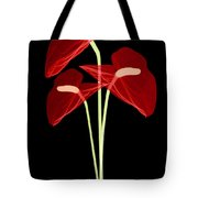 Anthurium Flowers, X-ray Tote Bag
