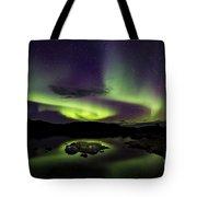 Aurora Borealis Over Iceland Tote Bag