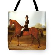 Barraud Henry Richard Paget Of Cropston Leicester On A Bay Hunter Henry Barraud Tote Bag