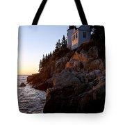 Bass Harbor Head Lighthouse Acadia National Park Tote Bag