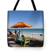 Beachland Boulevard At Vero Beach In Florida Tote Bag