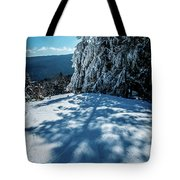 Beautiful Nature And Scenery Around Snowshoe Ski Resort In Cass  Tote Bag