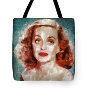 Bette Davis Vintage Hollywood Actress Tote Bag