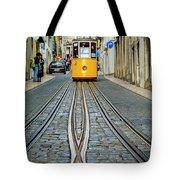 Bica Funicular, Lisbon, Portugal Tote Bag