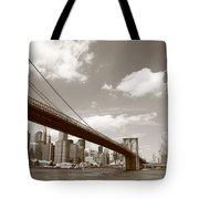 Brooklyn Bridge - New York City Skyline Tote Bag