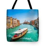 Canal Grande With Basilica Di Santa Maria Della Salute, Venice Tote Bag