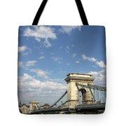 Chain Bridge On Danube River Budapest Tote Bag