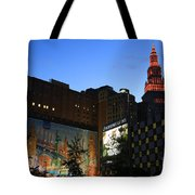 Terminal Tower And Sherwin Williams Building In Cleveland, Ohio, Usa Tote Bag