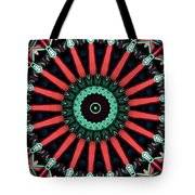 Colorful Kaleidoscope Incorporating Aspects Of Asian Architectur Tote Bag