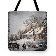 Currier & Ives: Winter Scene Tote Bag