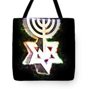 David's Menorah Jerusalem Tote Bag