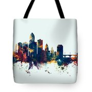 Des Moines Iowa Skyline Tote Bag