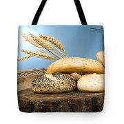 Different Breads And Windmill In The Background Tote Bag