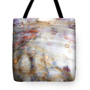 4. Dirty Brown, Red, And White Glaze Painting Tote Bag