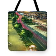 Early Morning Scenes At San Jose California International Airpor Tote Bag