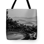 Early Morning Sunrise Over Blue Ridge Mountains Tote Bag