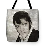 Elvis Presley, Legend  Tote Bag