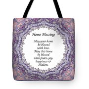 English Home Blessing Tote Bag