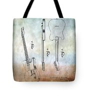 Fender Guitar Patent From 1951 Tote Bag