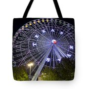 Ferris Wheel At The Texas State Fair In Dallas Tx Tote Bag