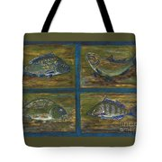 4 Fishes Tote Bag