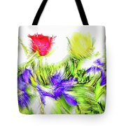Flower Frame Border Tote Bag