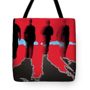 4 Friends Walking Into The Sun Tote Bag