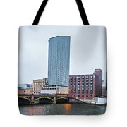 Grand Rapids Michigan City Skyline And Street Scenes Tote Bag