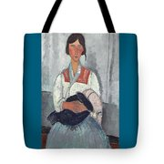 Gypsy Woman With Baby Tote Bag