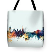 Halmstad Sweden Skyline Tote Bag