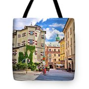 Historic Street Of Innsbruck View Tote Bag