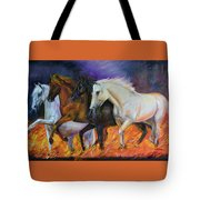 4 Horses Of The Apocalypse Tote Bag