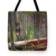 Hunter In The Adirondacks Tote Bag